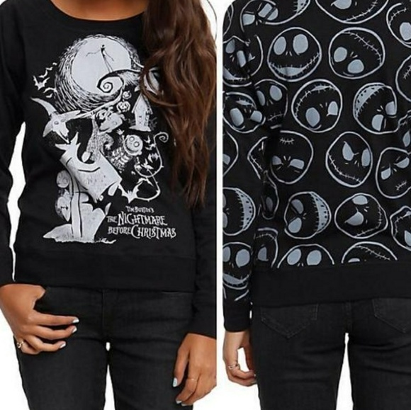 Hot Topic Nightmare Before Christmas Sweater.Nightmare Before Christmas Reversible Sweatshirt